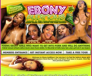 Ebony Auditions - Young ebony girls tryout for porn movies!